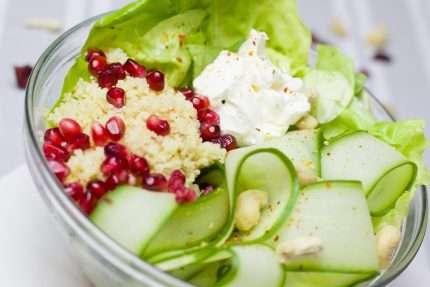 insalata con melagrana
