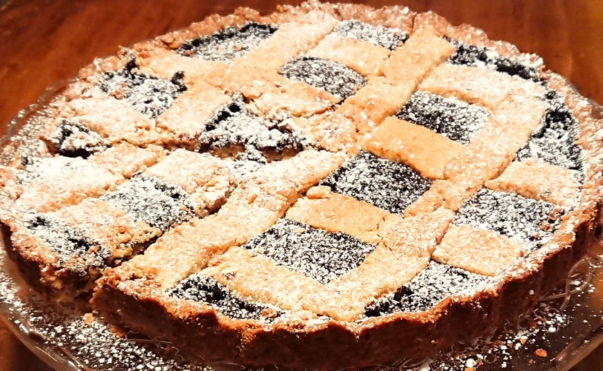 crostata integrale alla melagrana